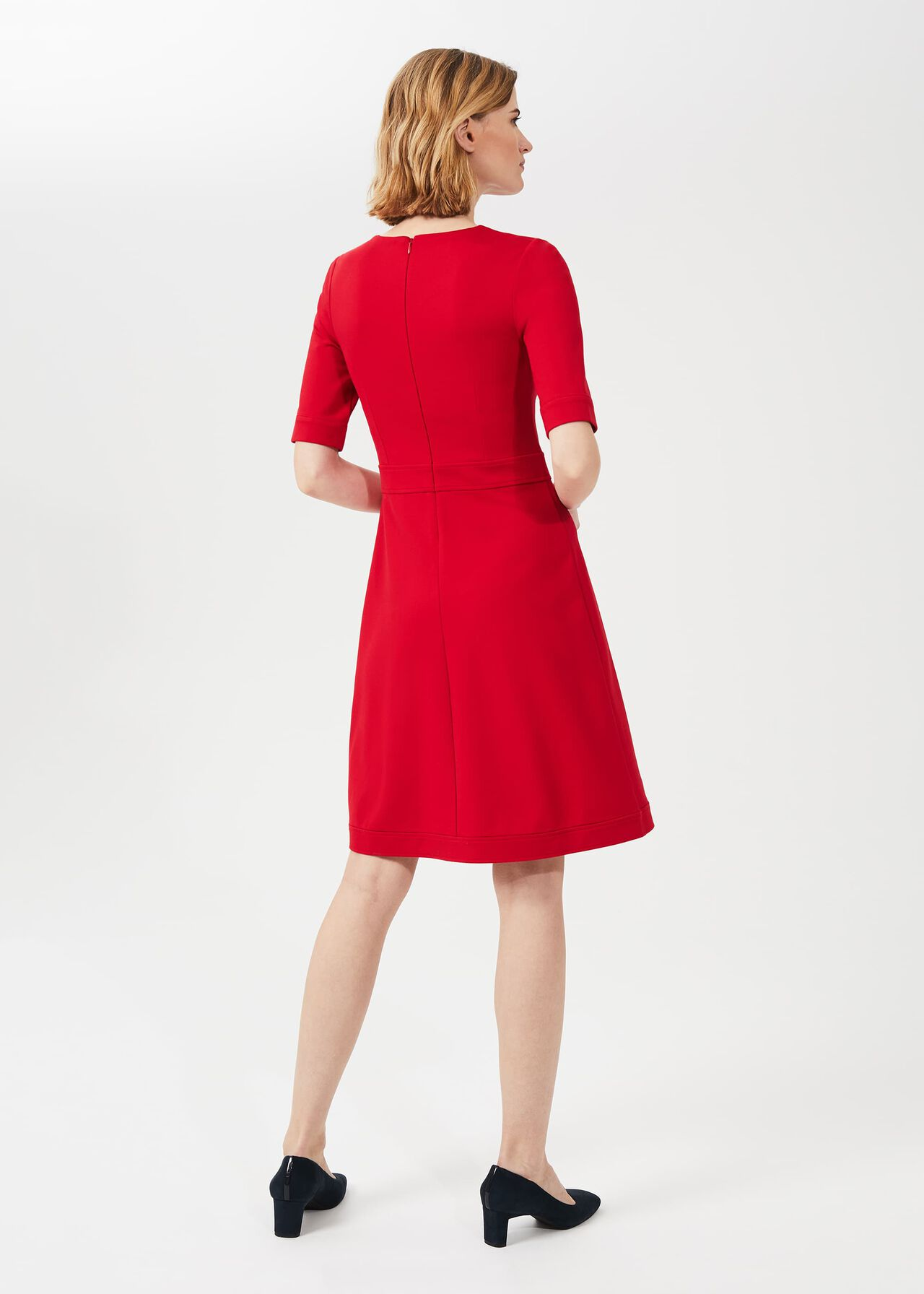 Anela Jersey Dress, Flag Red, hi-res