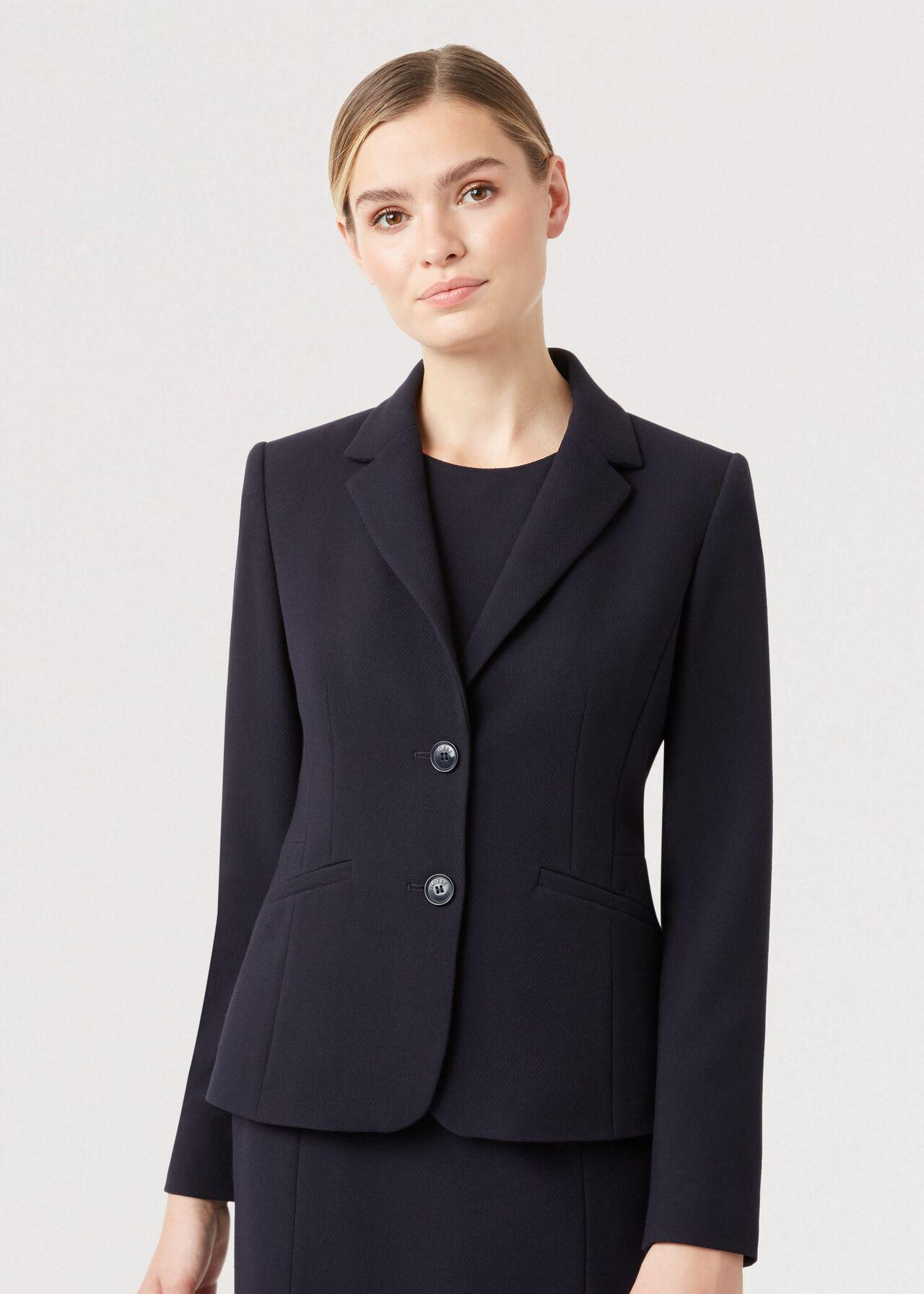 Petite Leila Jacket, Navy, hi-res