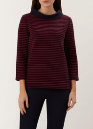 Coleta Top, Navy Red, hi-res
