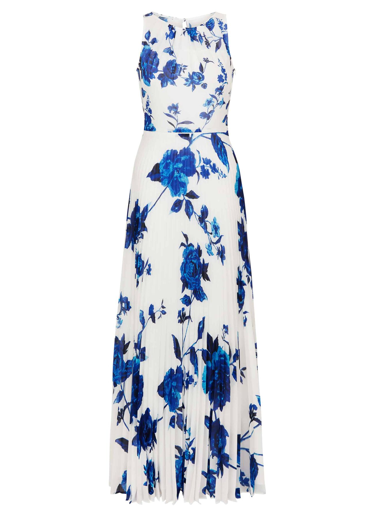 Talia Maxi Dress Ivory Blue