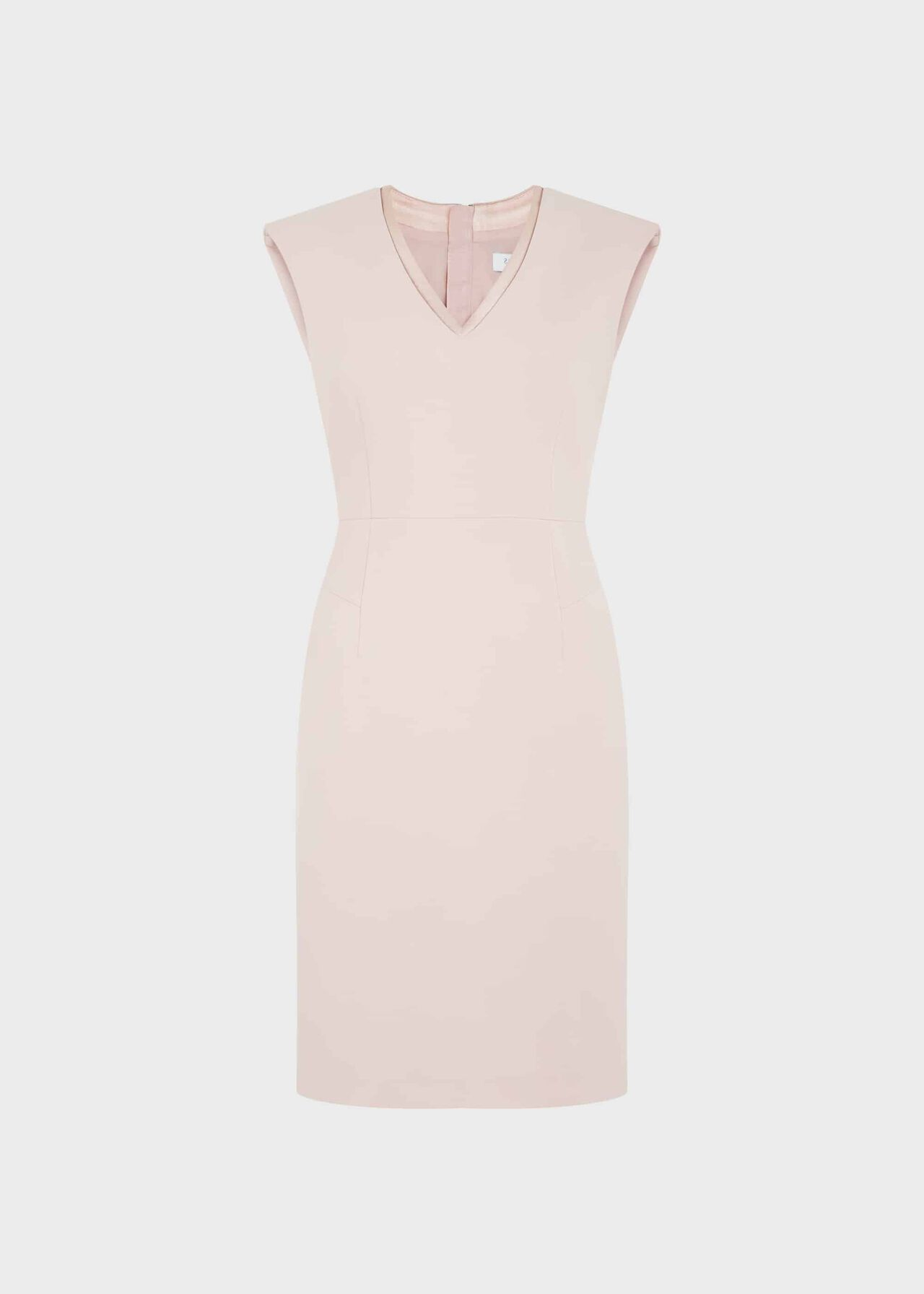 Frida V Neck Shift Dress Pale Pink
