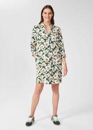 Marea Floral Tunic Dress, Green Multi, hi-res