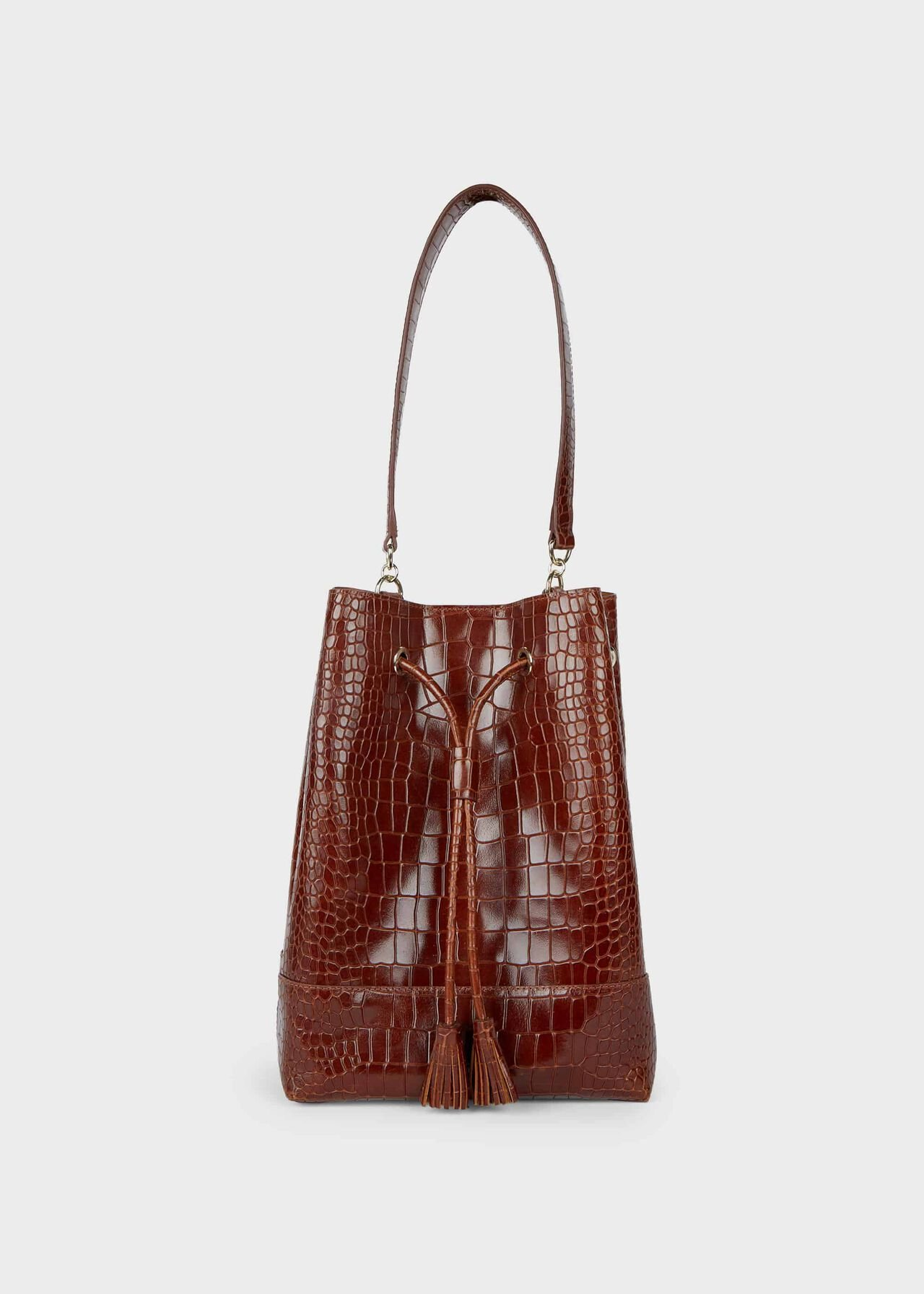 Hampstead Leather Bucket Bag Cognac