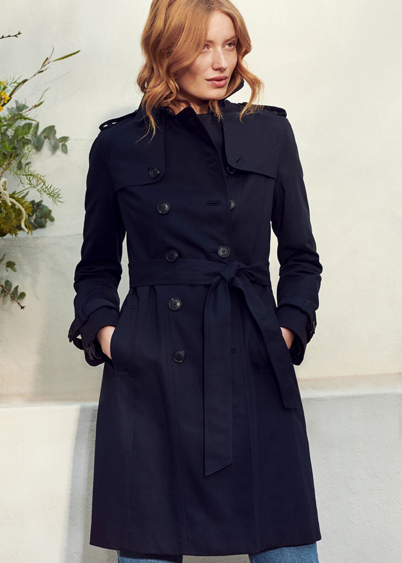 The Navy Saskia Trench Outfit, , hi-res
