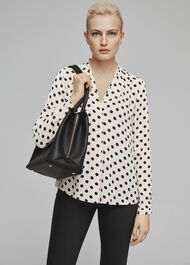 Lavina Blouse, Natural Black, hi-res