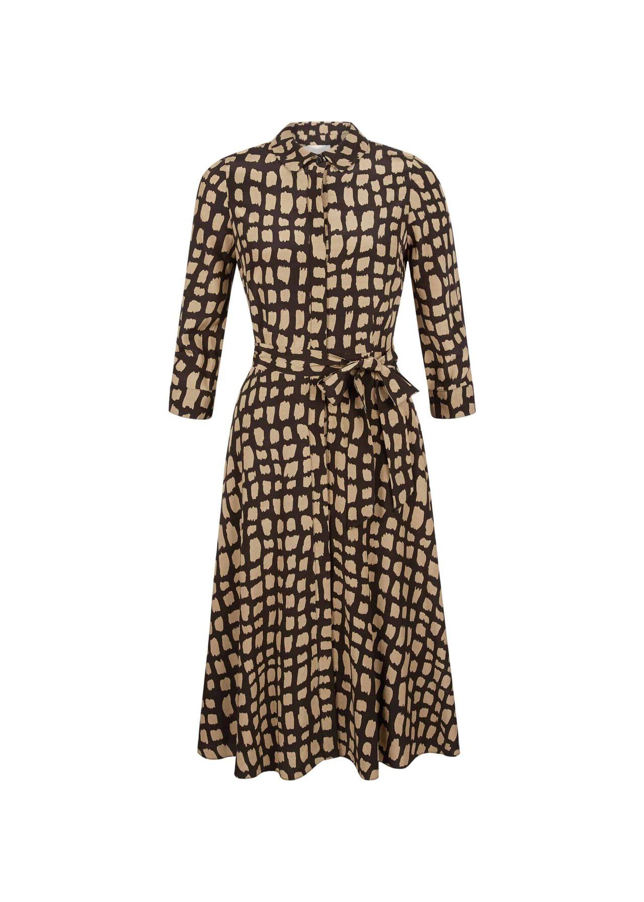 Petite Lainey Dress Black Camel