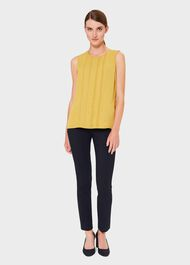 Adelyn Crew Neck Blouse, Chartreuse, hi-res
