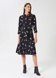 Lainey Dress, Navy Multi, hi-res