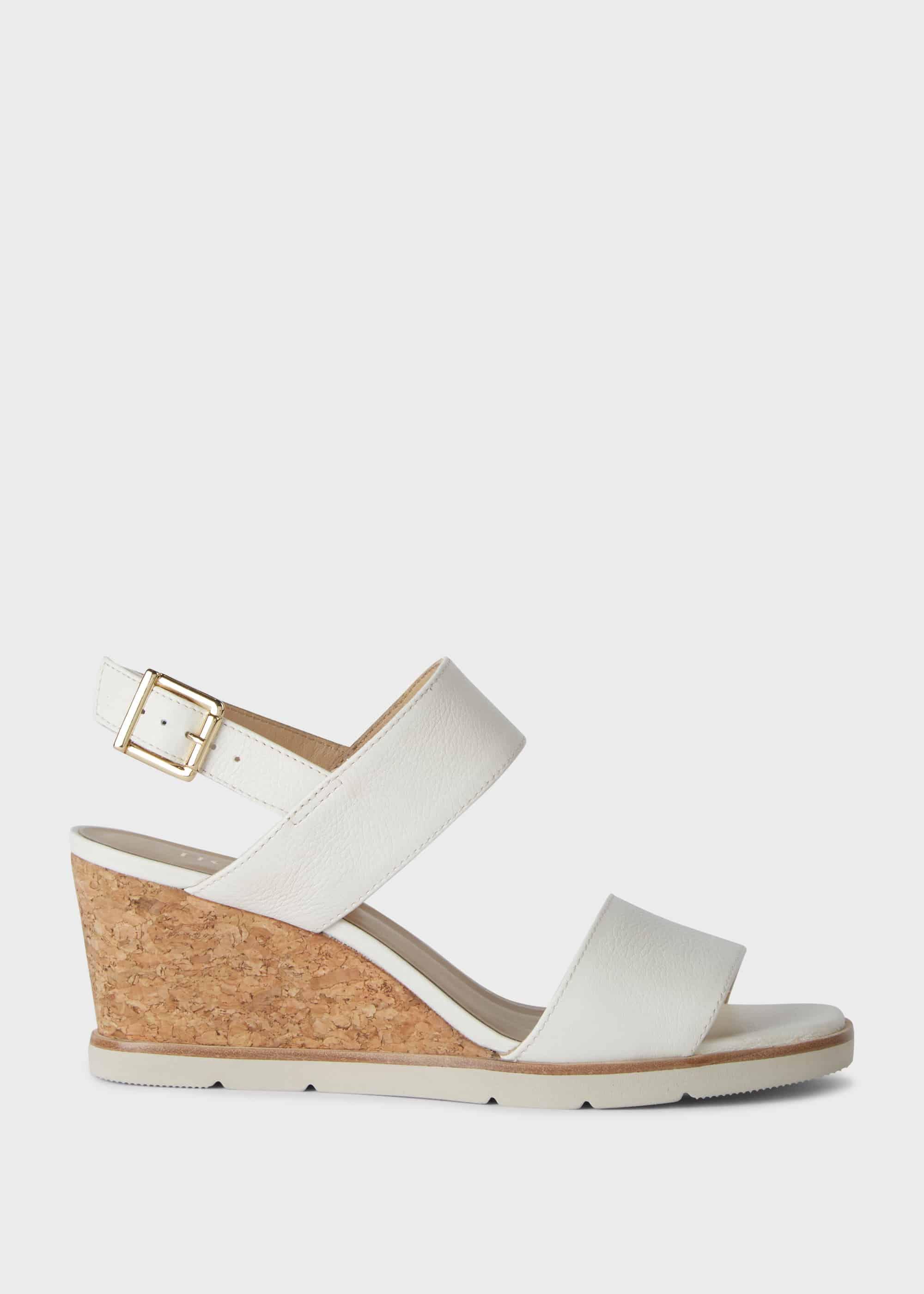 Verona Leather Wedge Sandals   Hobbs