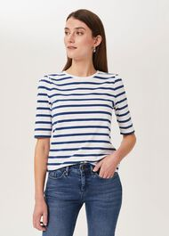 Eva Puff Sleeve T-Shirt, Frnch Blue Whte, hi-res