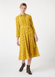 Tanya Shirt Dress, Mustard Multi, hi-res