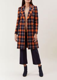 Rosaline Coat, Rust Navy, hi-res