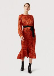 Isla Dress, Burnt Orange, hi-res