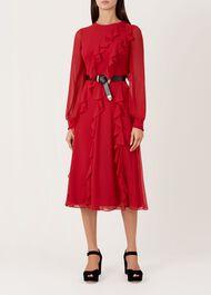 Mahalia Dress, Red, hi-res