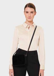 Pelham Cross Body Bag, Black Velvet, hi-res
