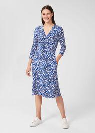 Simmy Floral Jersey Dress, Blue Multi, hi-res