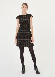 Ashley Dress, Black Gold, hi-res