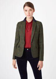 Blake Wool Jacket, Green Navy, hi-res