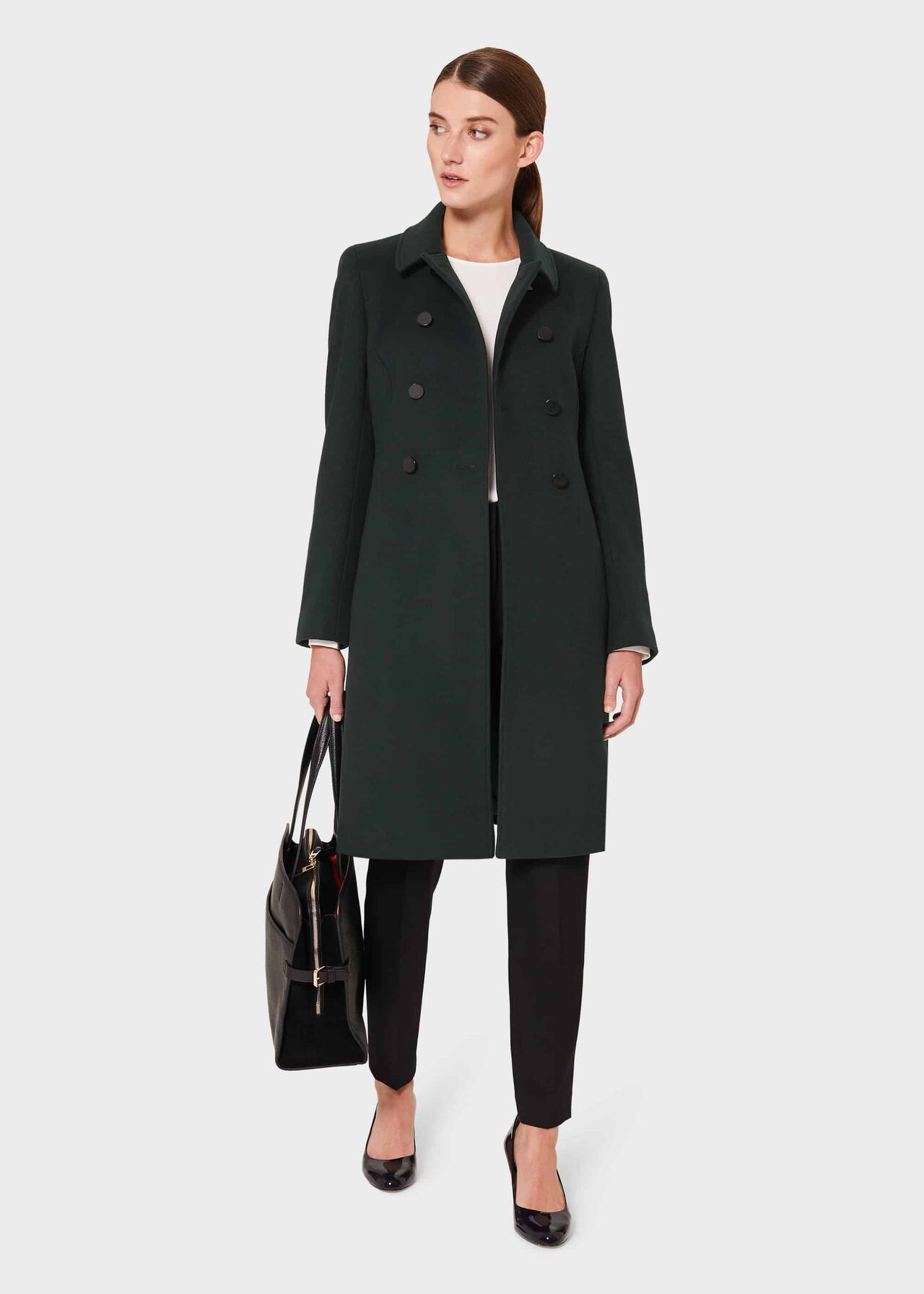 Petite Sylvia Wool Blend Coat, Fern Green, hi-res