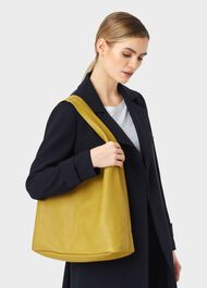 Lula Leather Hobo Bag, Citron, hi-res