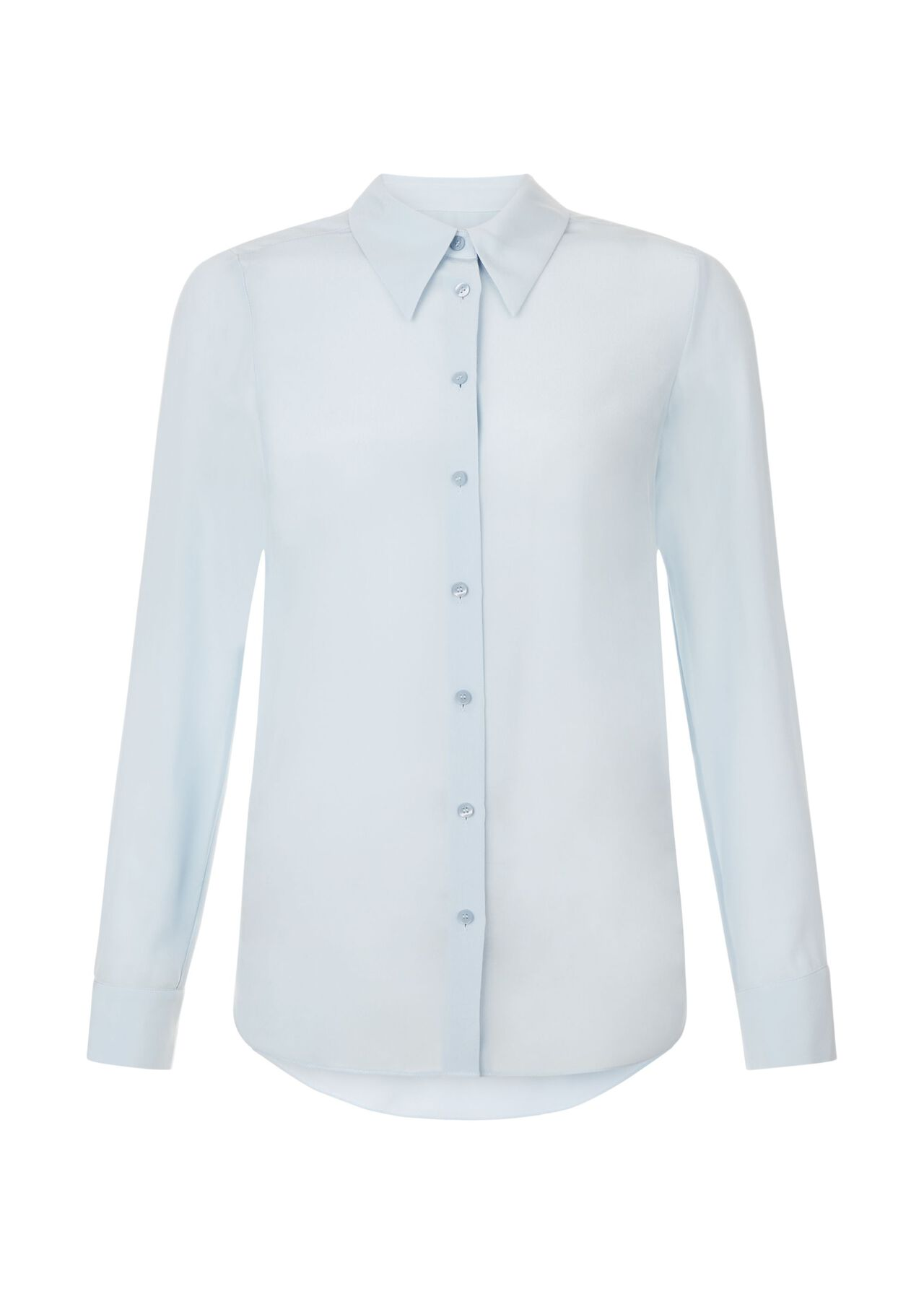 Athena Silk Blouse Pale Blue