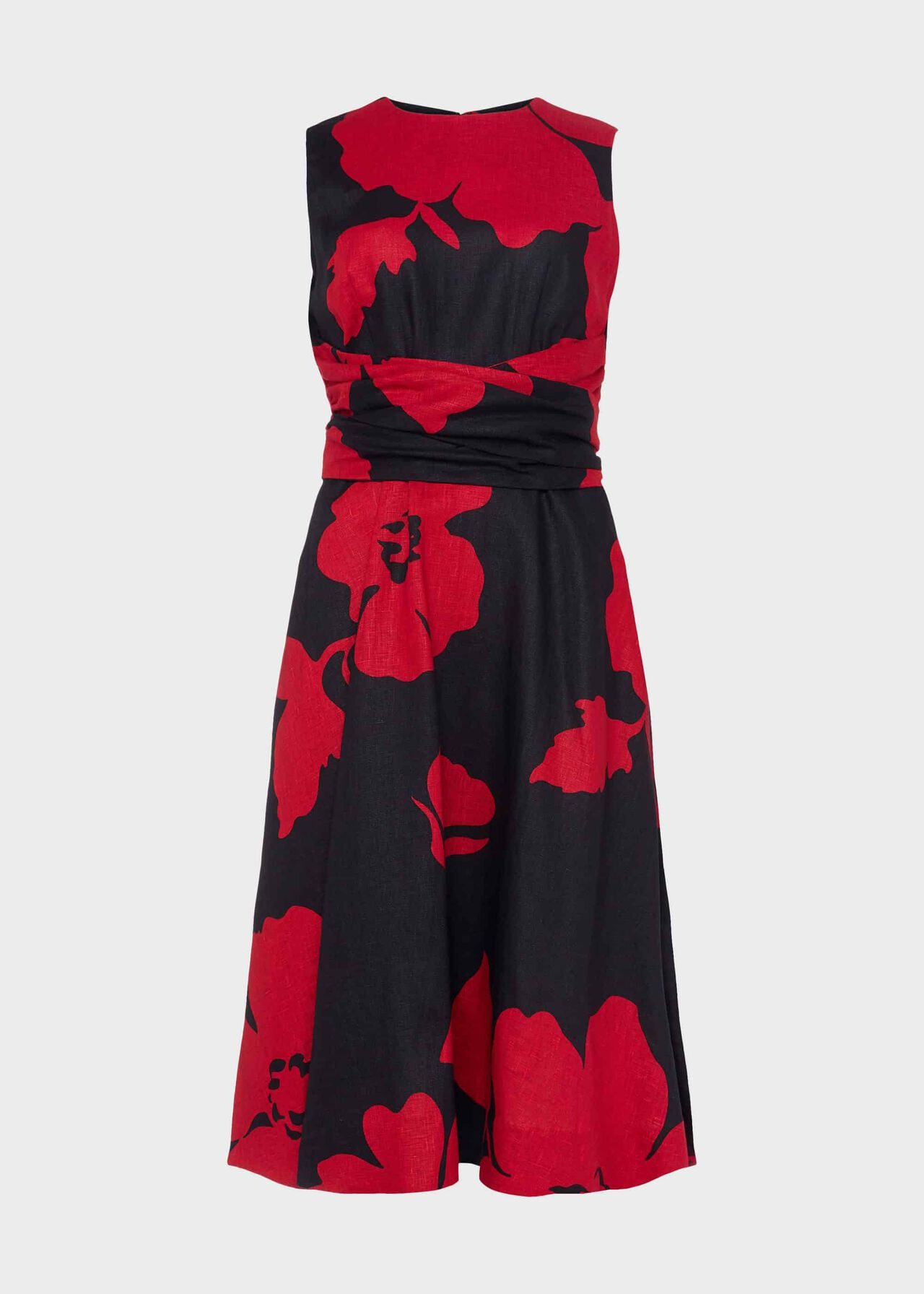 Petite Twitchill Dress Navy Red