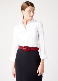 Abbie Belt, Burgundy, hi-res
