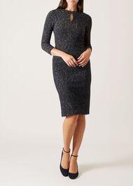 Camille Dress, Navy Caramel, hi-res