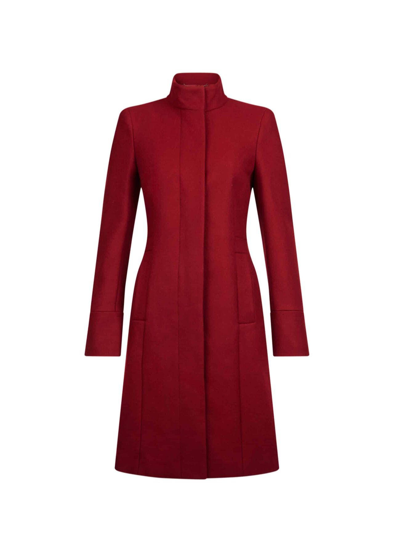 Athena Wool Blend Coat Berry