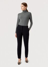 Tapered Mina Trousers, Navy, hi-res
