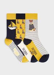 Dog Sock Set, Navy Chartreuse, hi-res