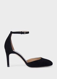 Elliya Suede Court Shoes, Black, hi-res