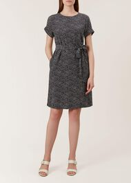 Wendy Dress, Navy White, hi-res