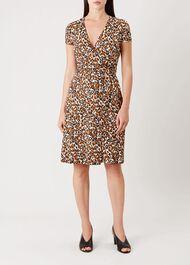 Delilah Wrap Dress, Pumpkin Spice, hi-res