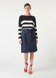 Phoebe Sweater, Navy Ivory, hi-res