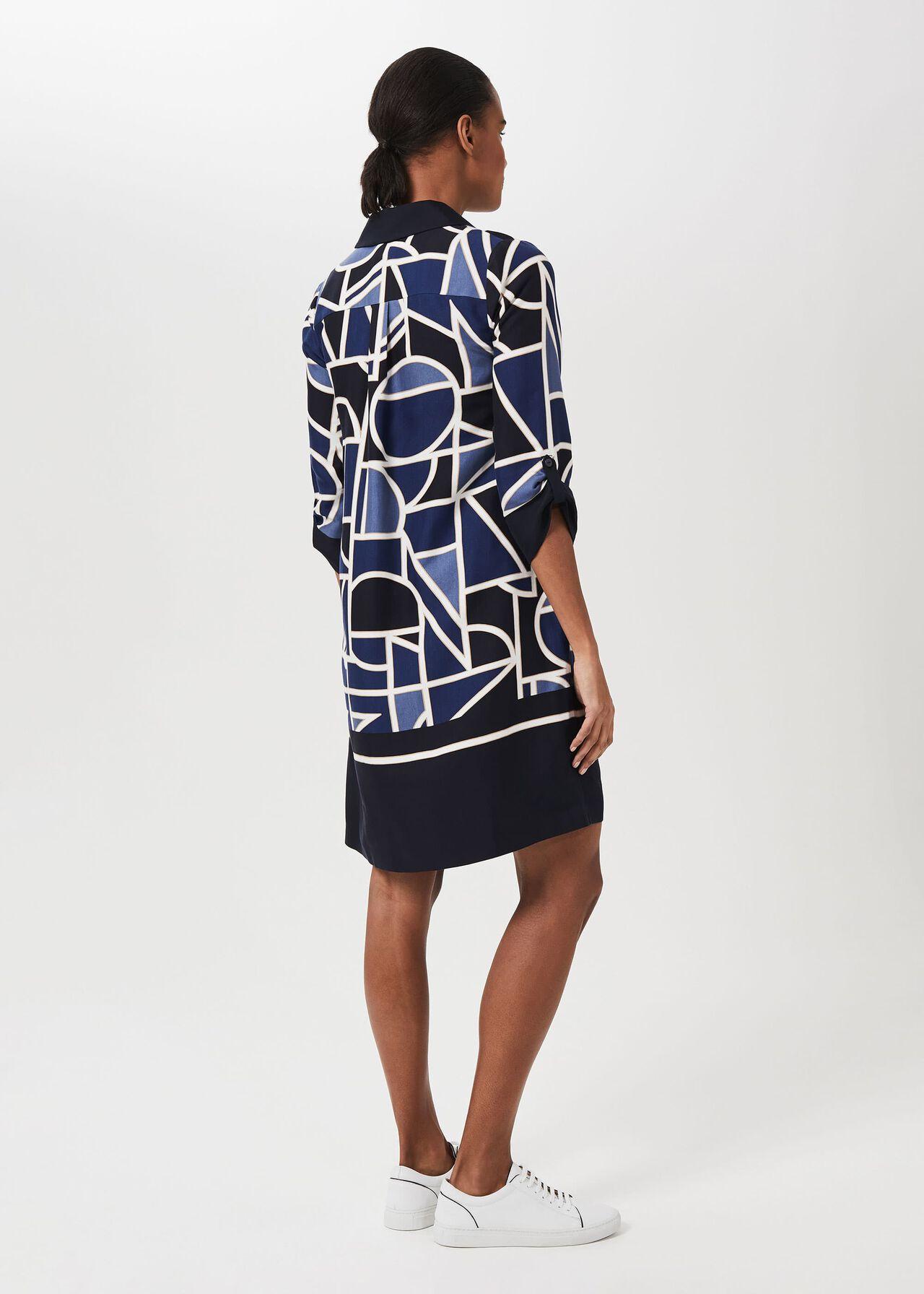 Marci Tunic Dress, Blue Multi, hi-res