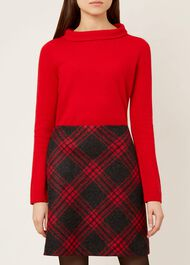 Audrey Wool Blend Jumper, Red, hi-res