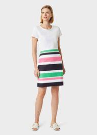 Alya Cotton Blend Stripe A Line Skirt, Multi, hi-res