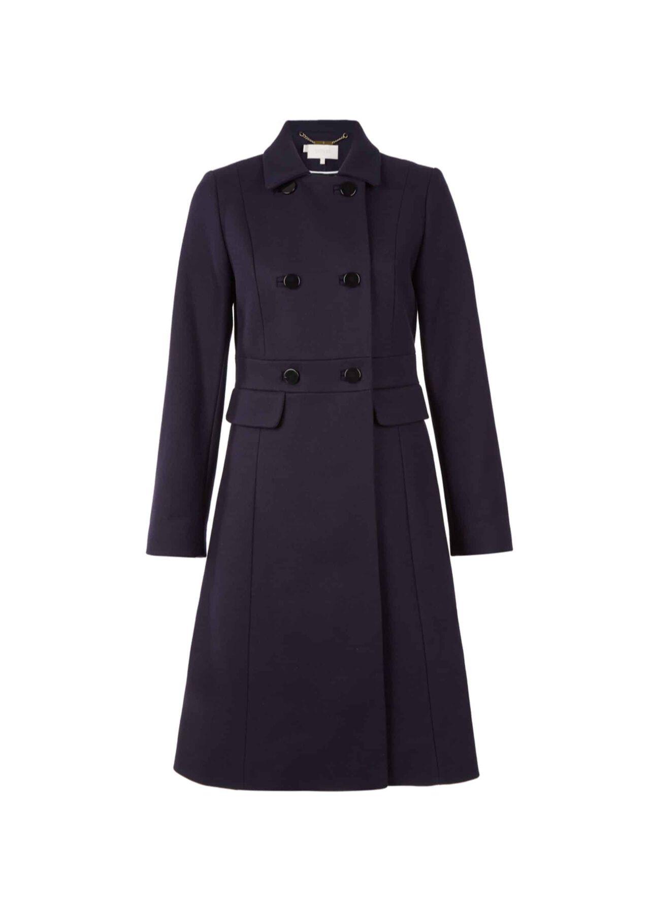 Corrine Wool Blend Coat Navy