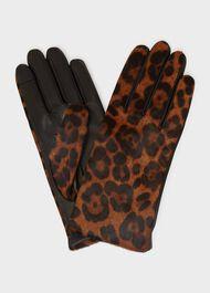 Emma Leather Glove, Leopard, hi-res