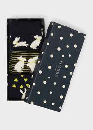 Bunny Sock Set, Yellow Multi, hi-res