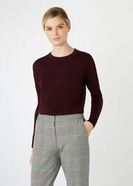 Penny Merino Wool Sweater, Mulberry, hi-res