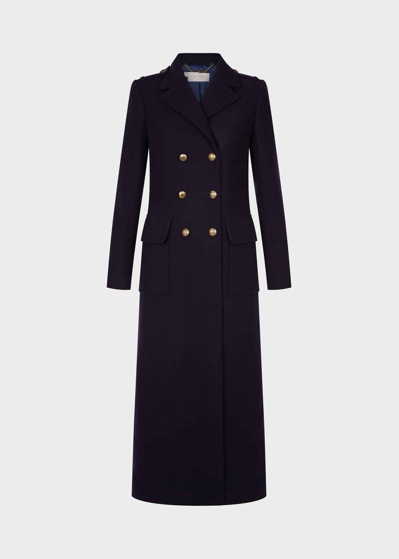 Bianca Maxi Coat Navy