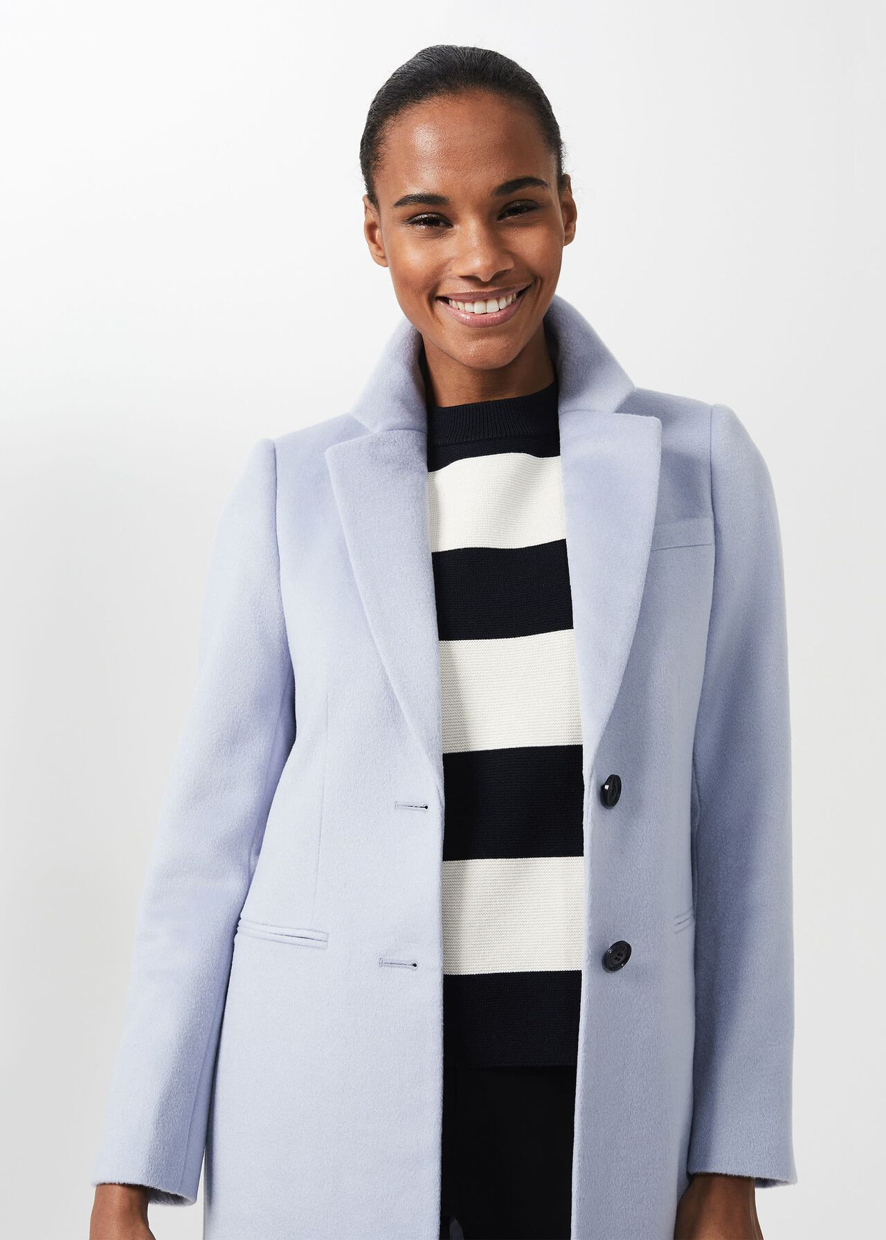 Tilda Wool Coat, Pale Blue, hi-res