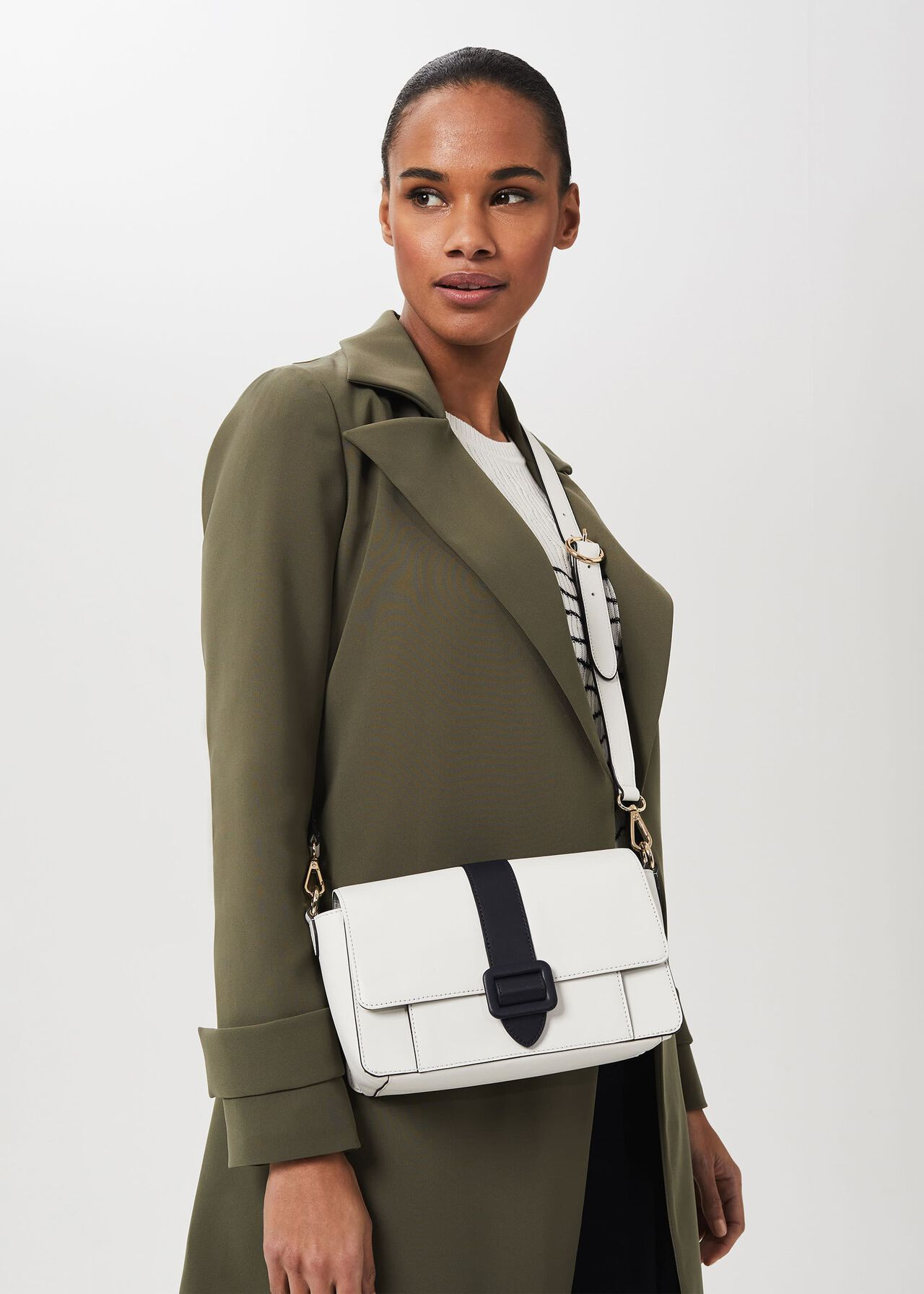 Keighley Leather Crossbody Bag, White Navy, hi-res