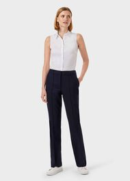 Martina Straight Trouser, Navy, hi-res
