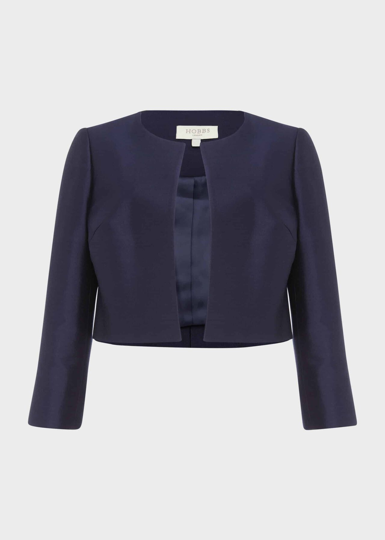 Christie Silk Wool Jacket Navy