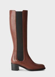 Emma Knee Boot, Dark Tan, hi-res