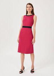 Marlene Jersey Shift Dress, Raspberry, hi-res