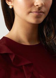 Dina Earrings, Gold, hi-res